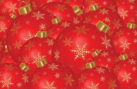 christmastree: Christmas background Christmas-tree balls with big close-up Illustration