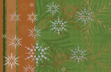 Festive Christmas background card with snowflakes on a dark Vector
