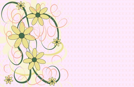 beautify: Vector background with decorative floral elements and texture Illustration