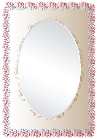 Elegant vector photo frame adorned with design elements