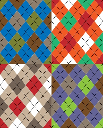 The Scottish National seamless texture pattern with geometric shapes
