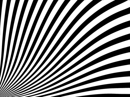 Abstract vector striped background with black and white stripes Vector