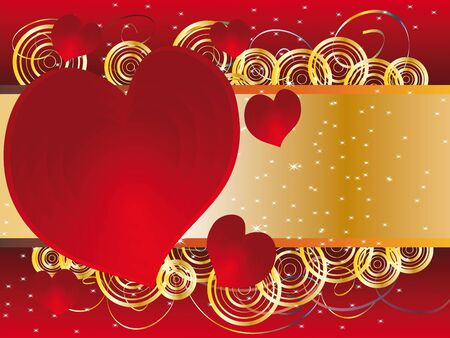 Celebratory background with hearts and place on Valentine's Day Stock Vector - 11785157
