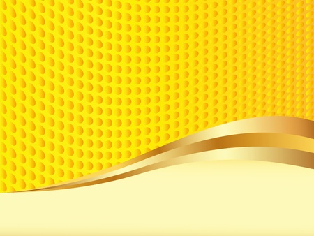 Yellow vector background with space for text (EPS 8) Vector