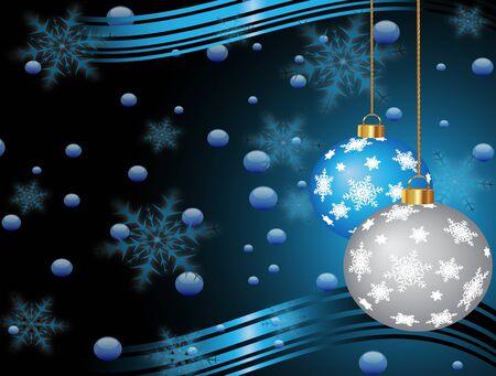 Christmas vector background with a dark Christmas tree balls (eps 10) Vector