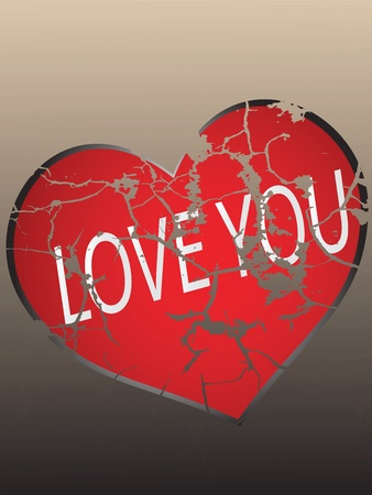 An abstract illustration on the theme of failed love and separation Vector