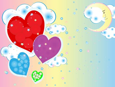 A simple illustration of a beautiful romantic love and tenderness Vector