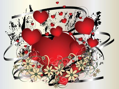 Abstract retro illustration of the love and affection on Valentine's Day Stock Vector - 11875994