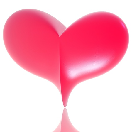 Illustration of Valentine's Day with a big heart pink Stock Illustration - 11875964