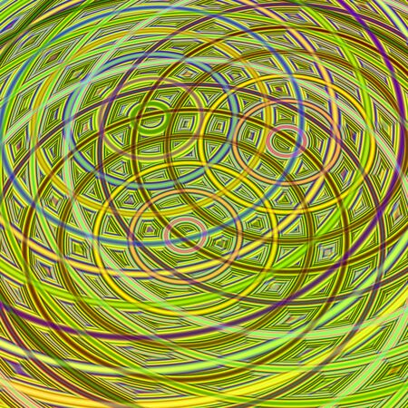 Abstract wallpaper with interlaced rings and symmetry photo