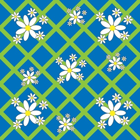 Seamless floral pattern with daisies for your design 向量圖像