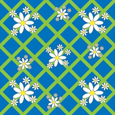 flowery: Sin fisuras patr�n floral con margaritas para su dise�o