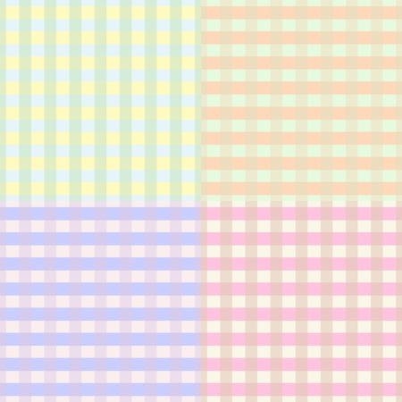 Seamless checkered pattern in light pastel colors and four different colors Stock Vector - 12370017