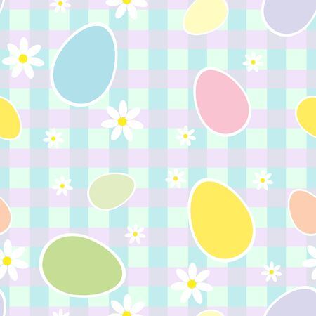 Seamless pattern with Easter colored eggs and flowers Stock Vector - 12841282