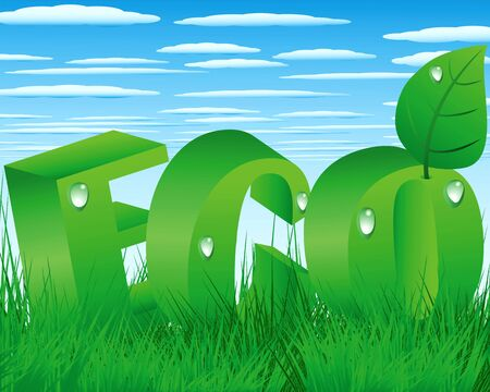 Illustration of the Environmental Protection Environment and Nature Vector