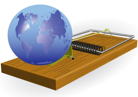 mousetrap: Planet earth is in a mousetrap and is under threat