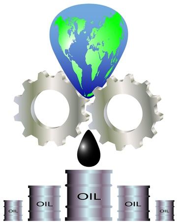 recursos naturales: La extracción de los recursos naturales y el agotamiento de la tierra del planeta Vectores