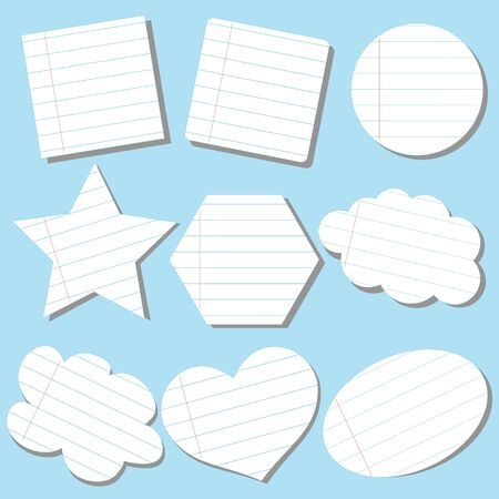 old diary: Paper on the frames the school theme with stripes Illustration