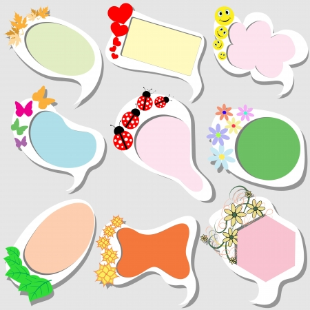 Funny colored frames in a children's style Vector