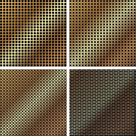 A set of dark metallic grille for your design Stock Vector - 14753950
