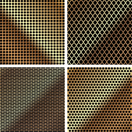 A set of dark metallic grille for your design Stock Vector - 14753947