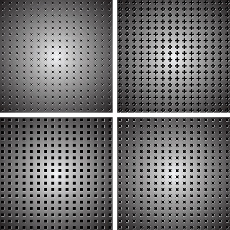 A set of dark metallic grille for your design Stock Vector - 14753945