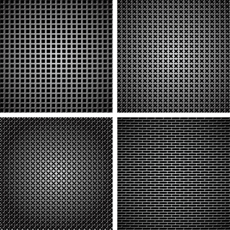 A set of dark metallic grille for your design Stock Vector - 14753949