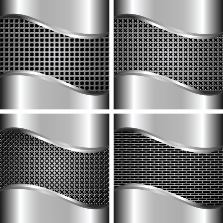 A set of metal background for your design Stock Vector - 15399767