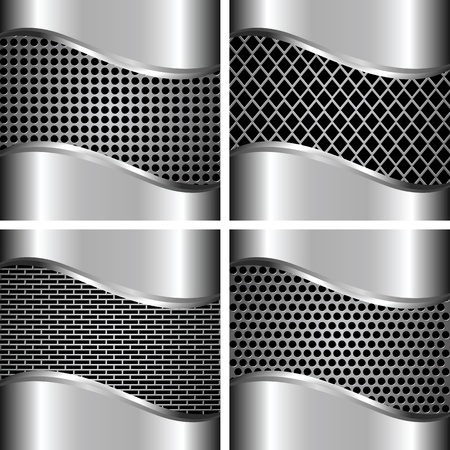 A set of metal background for your design Stock Vector - 15399764