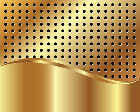 Golden background with grid and space for text Vector