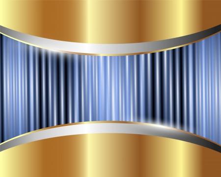 Abstract gold Metall Hintergrund mit blauen Schimmer Standard-Bild - 15468173