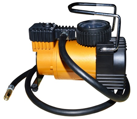 Electric car compressor isolated on white background
