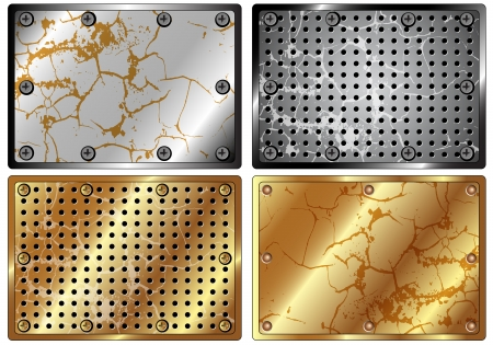 brass plate: A set of metal background for your design