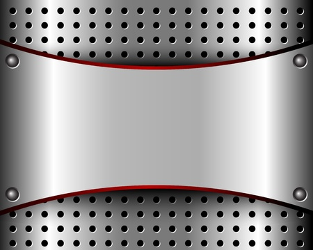 aluminum background: Background with a metal plate and bars for your design