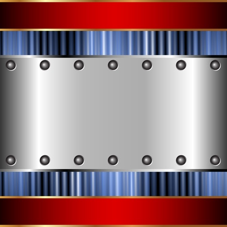 Metallic background of steel plates for your design Stock Vector - 17233527