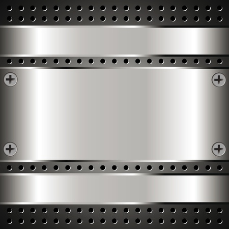 Metallic background with grid for your design Stock Vector - 17232515