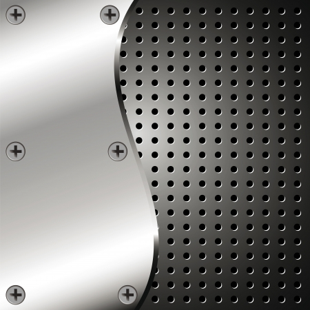 Metallic background with grid for your design Vector