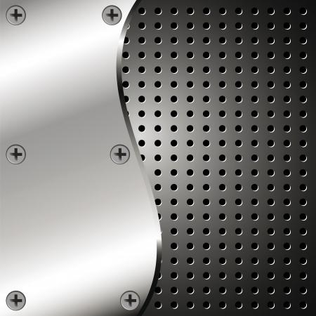 Metallic Hintergrund mit Raster für Ihr Design Standard-Bild - 17233524