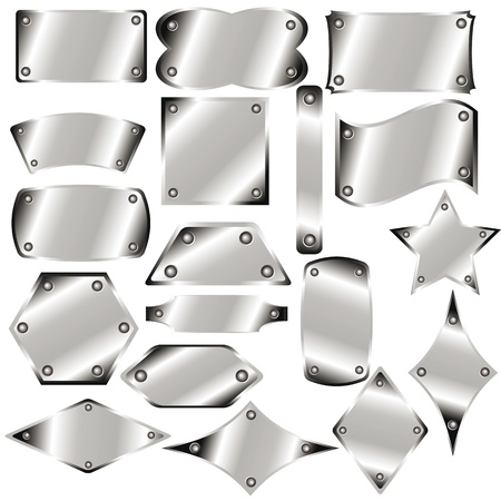 A set of metal plates for your design Stock Vector - 17306557