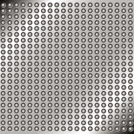 Abstract metal background with rivets for your design Vector