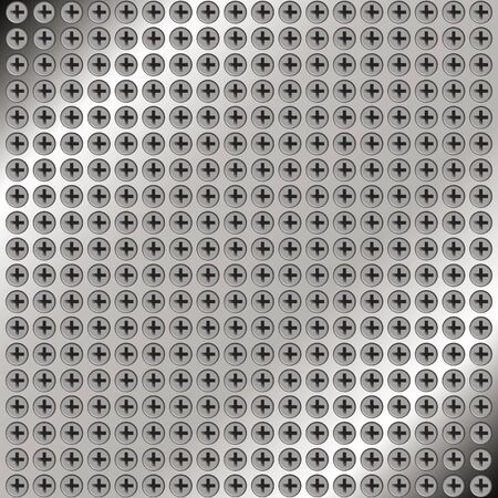Abstract metal background with screws for your design Stock Vector - 17306567