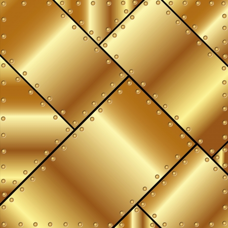 rivet: Metallic background of gold plates for your design