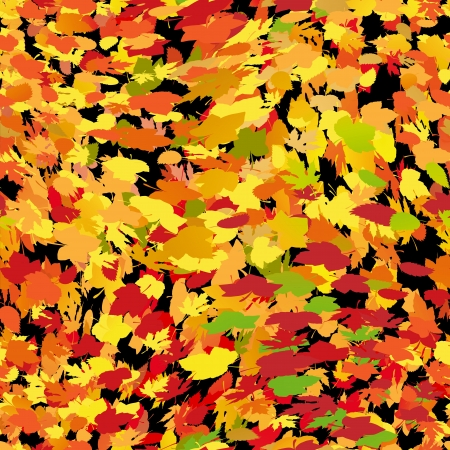 Seamless autumn background with yellow leaves Stock Vector - 17571585