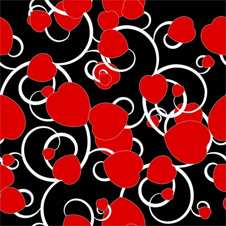 Seamless background with hearts for your design Stock Vector - 17571575