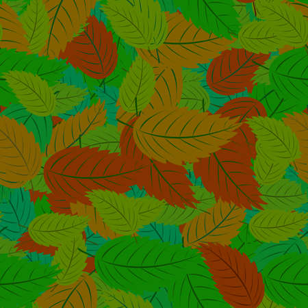 Seamless pattern with colorful leaves for your design Stock Vector - 17730019