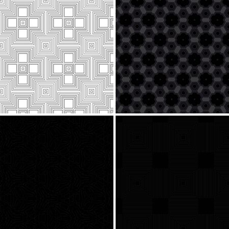black floor: A set of seamless dark pattern for your design