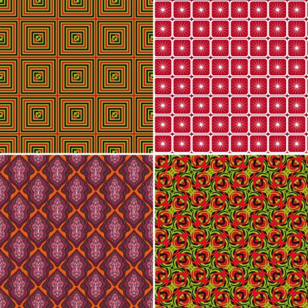 Set of seamless patterns with geometric shapes Stock Vector - 17886921