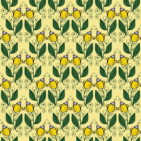Seamless floral pattern for your design Vector