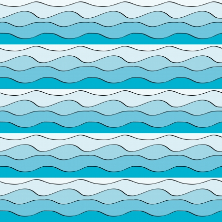 Seamless pattern with blue water waves Stock Vector - 17886928