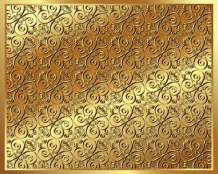 bronze background: Gold background with an openwork pattern for your design